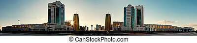 Panorama of Astana - Left bank of Astana, panoramic view