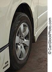 Car tires.