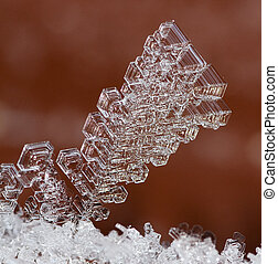 abstract ice crystal - The abstract ice crystal in the...