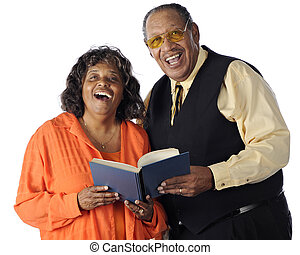 Singing Senior Couple - A senior African American couple...
