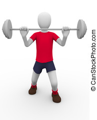 weightlifting - A man is lifting a heavy weight...