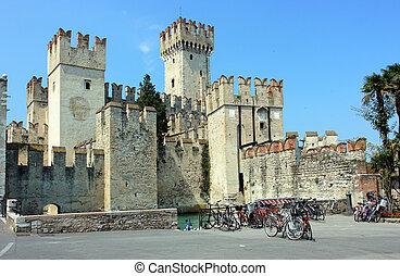 Sirmione castle near Garda lake