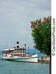 Ferry boat in Desenzano - Touristic ferry boat in Desenzano...