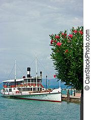 Ferry boat in Desenzano - Touristic ferry boat in Desenzano...