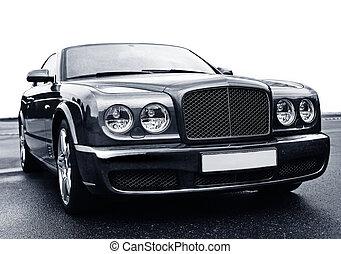 luxury car - big shining luxury of car on asphalt