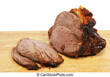Carved roast beef - Carved joint of roast beef