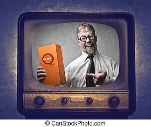 Man on TV - Businessman on TV