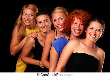 Friends - A picture of a group of five sexy girl friends...