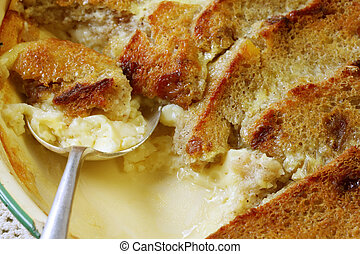 Bread and Butter Pudding - Traditional dessert ~ bread and...