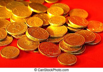 Golden Aussie Dollars - Golden Australian one and two dollar...