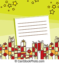 Holiday Wishes with Gifts Illustration
