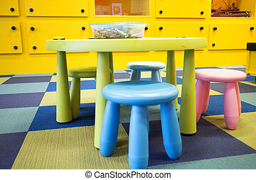 colorful kids play room