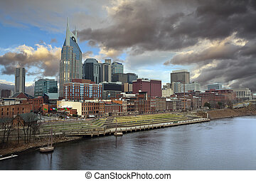 Nashville. - Image of Nashville, Tennessee in morning light.