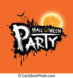 Happy Halloween party text