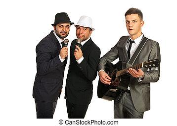 faixa, homens,  musical