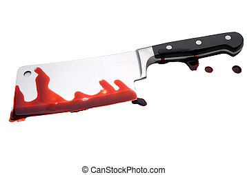 Bloody Butchers Knife - A bloody butcher\\\'s knife