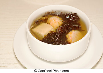 Miso soup , Japanese Food - Seaweed soup,Miso soup