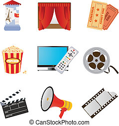 Movie icons - Set of icons for your design