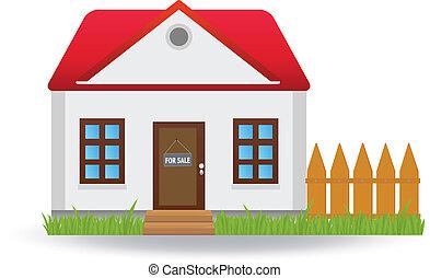 House for sale. Vector illustration for you design