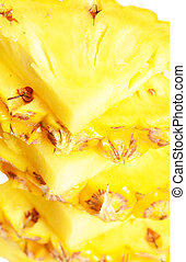 ananas - close up of ripe ananas pieces