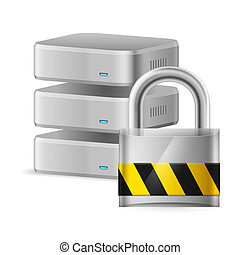 Database icon off Illustration for design on white