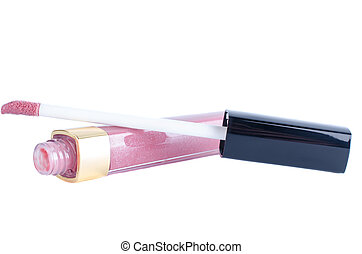 Lip gloss, isolated on white