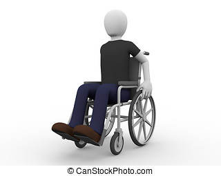 Wheelchair man
