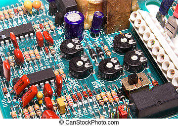 Circuit Board - A close-up of a printed circuit board