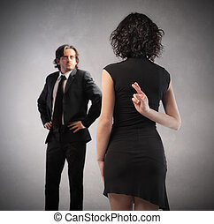Woman breaking promise - Woman breaking her promise to man