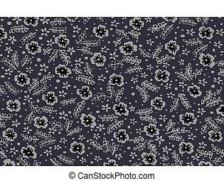 Vector flower seamless pattern
