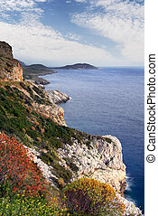 Mani peninsula, southern Greece - Landscape from the Mani...