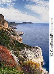 Mani peninsula, southern Greece - Landscape from the Mani...