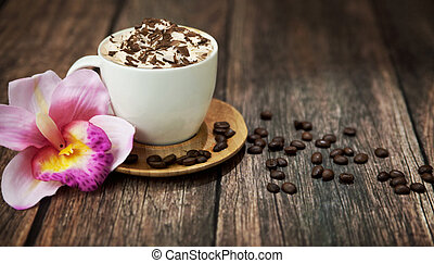 Delicious coffee with chocolate - Delicious coffee with milk...