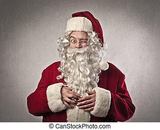 Santa in studio