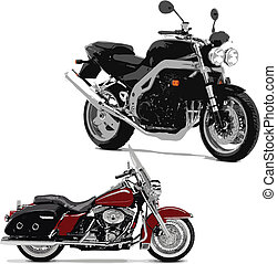 vector illustrations of motorcycle.