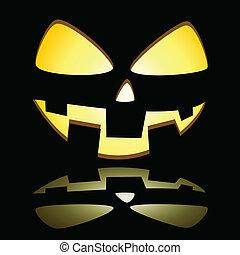 Pumpkin - Illuminated Halloween pumpkin on black