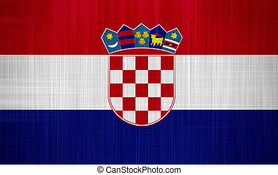 Croatia Flag with a fabric texture
