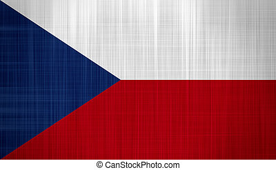 Czech Flag with a fabric texture