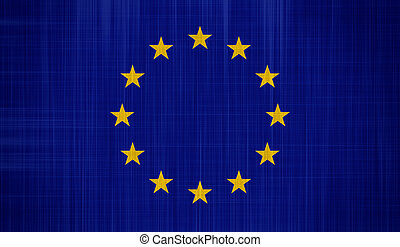 EU Flag with a fabric texture