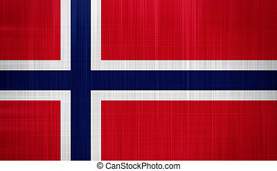 Norway Flag with a fabric texture