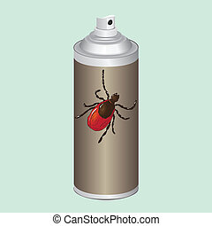 Insect spray - Spray to control insects, mites Vector...