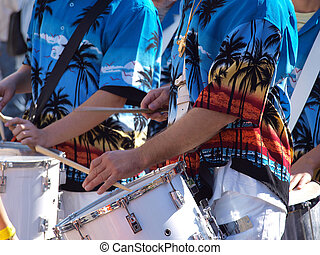 Caribbean latin music played on percussion drums