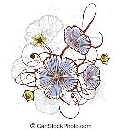 Vintage floral design, vector illustration