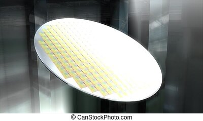 Silicon wafer - Artist recreation Microchip silicon wafer