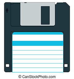 Diskette - Floppy disk for various designs - without...