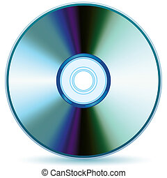 CD - Vector compact disc - mesh and gradient