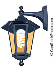 Street lamp for vector design