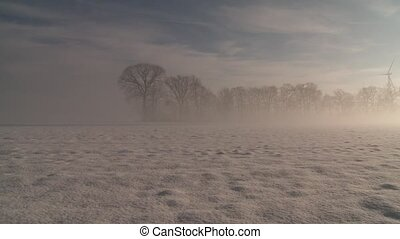 Winter Landscape - Winter Wonderland with Sun