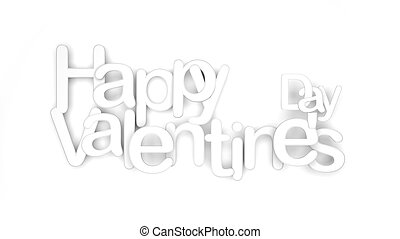 White happy valentines day letters