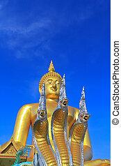 Big buddha statue at Wat muang, Thailand